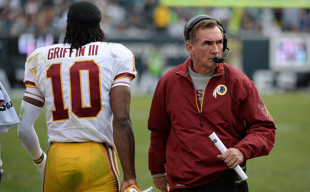 Shanahan and Griffin were jettisoned from Washington two years apart: the coach following the 2013 season and the QB after 2015.