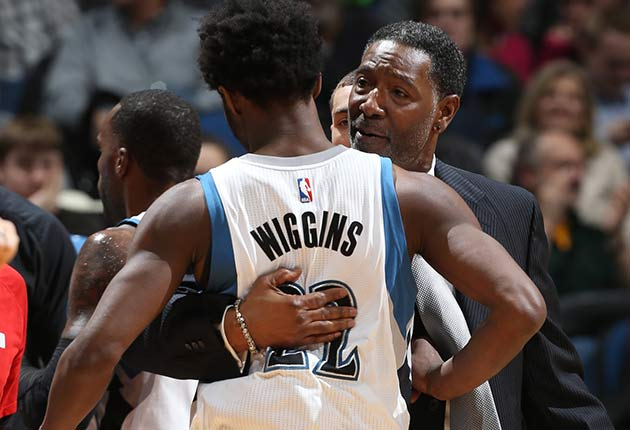 Andrew Wiggins and Sam Mitchell