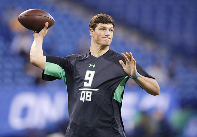 Hackenberg's performance at the combine was up and down, though he later made up for it with a strong pro day.