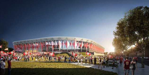 Sacramento Republic FC released new renderings for a potential MLS stadium