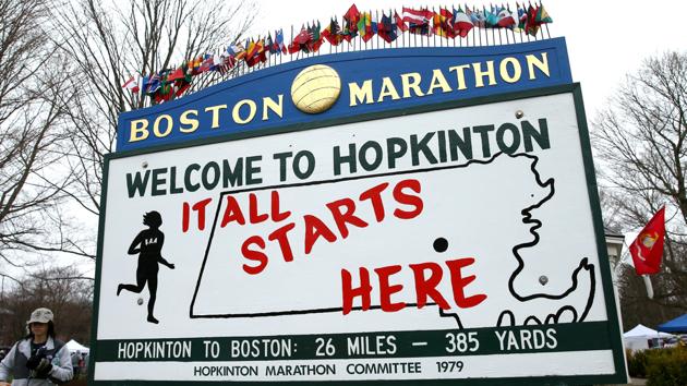 hopkinton start boston marathon course guide
