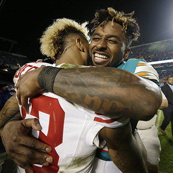 Jarvis Landry, who played with Odell Beckham Jr. at LSU, is sometimes viewed as OBJ's sidekick.