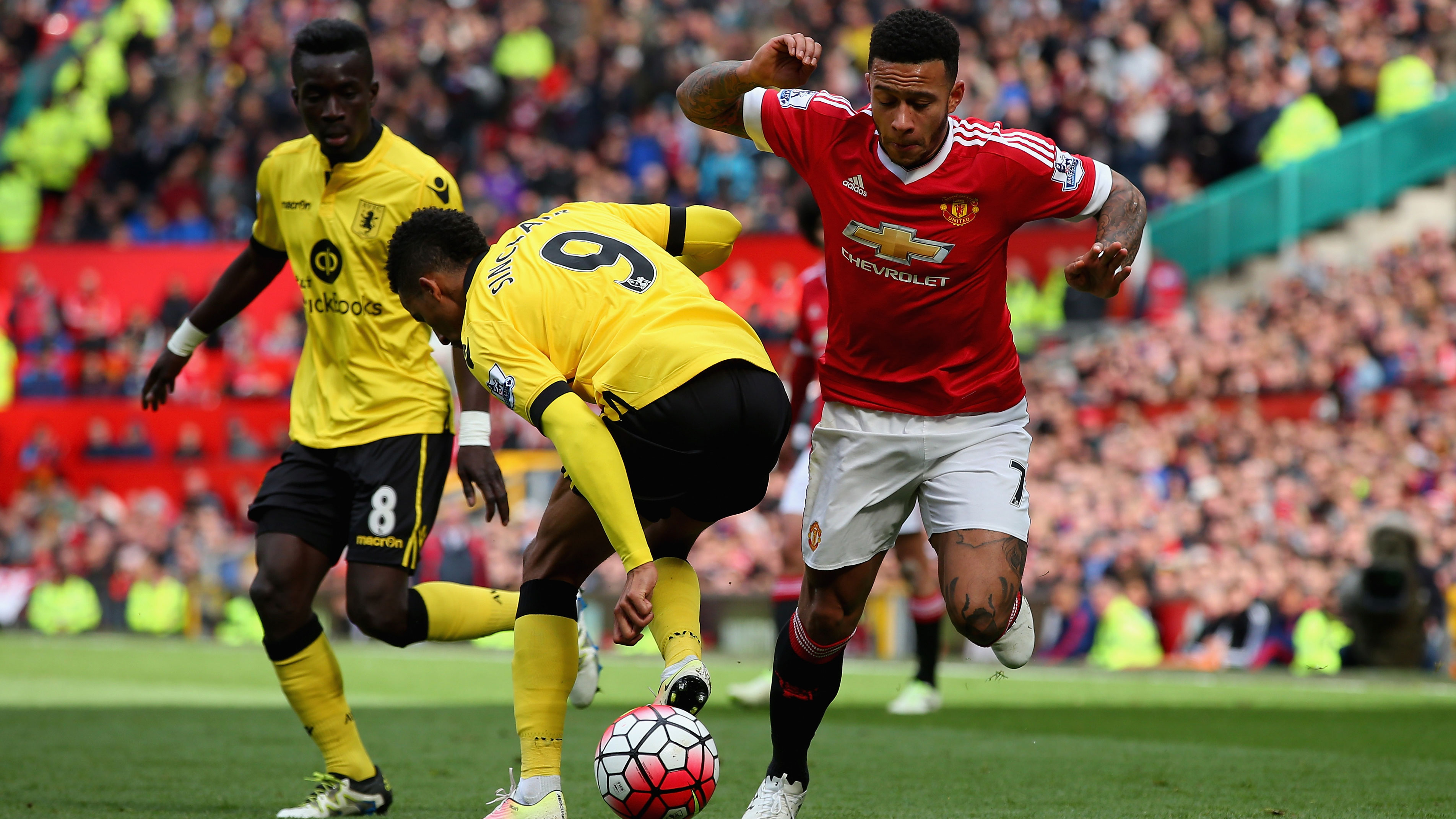 aston villa relegated loss manchester united