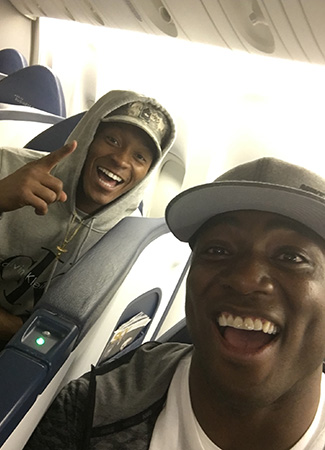 D Ware and DT board the plane, headed for somewhere much different than Disney World.