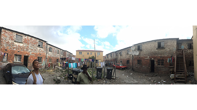 "From Ware's Instagram: ""Langa township. Oldest apartheid scheme in the Cape. 6 rooms to a building, 15 people per room, 3 beds per room. #EyeOpening"""