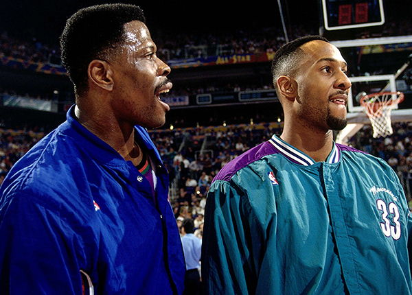 Patrick Ewing and Alonzo Mourning