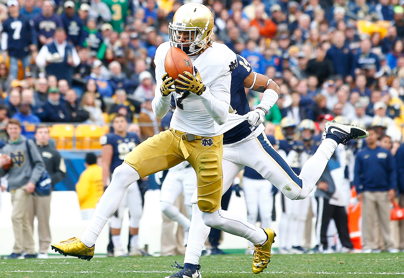 The hands of Notre Dame WR Will Fuller are a question mark to some NFL teams.