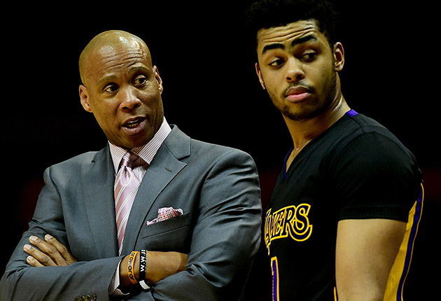 Byron Scott and D'Angelo Russell