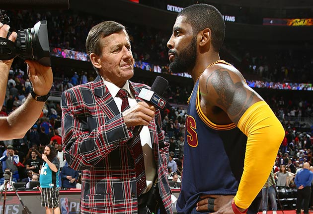 Craig Sager and Kyrie Irving