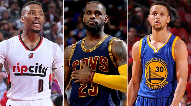 Damian Lillard, LeBron James, Stephen Curry