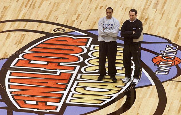 Johnny Dawkins and Coach K