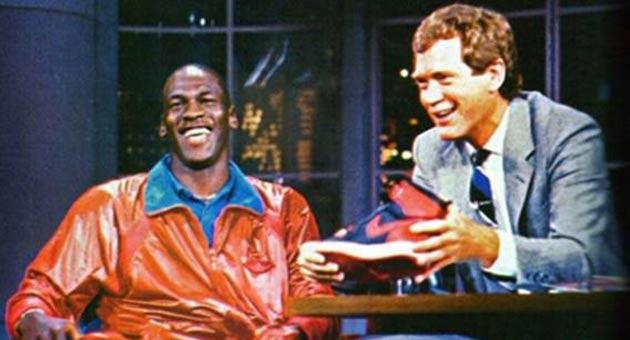 Michael Jordan and David Letterman