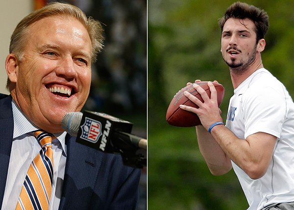 John Elway and Paxton Lynch