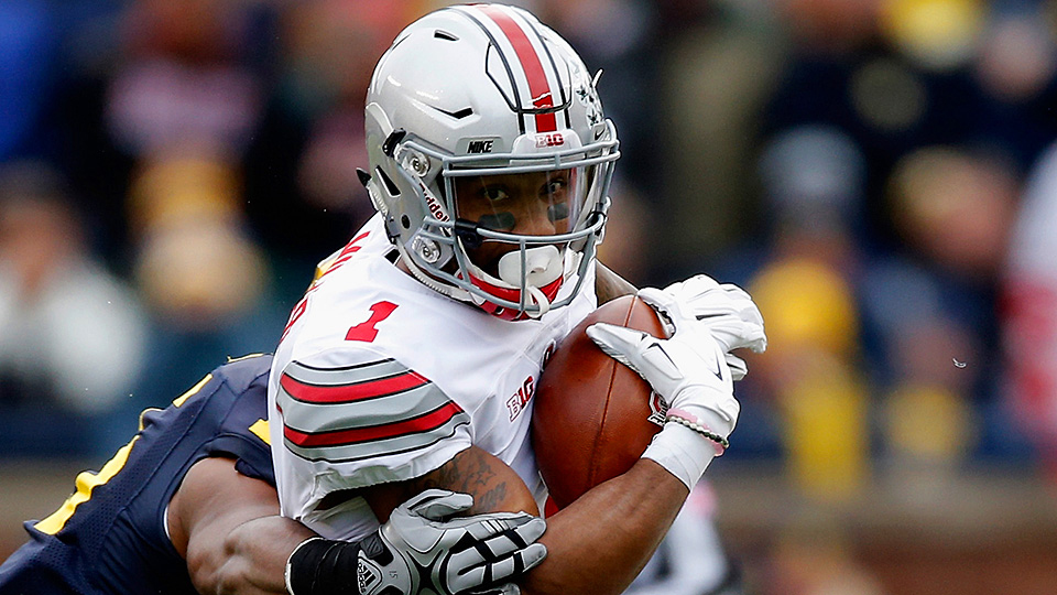 The Houston Texans draft Ohio State WR Braxton Miller in the 2016 NFL draft.