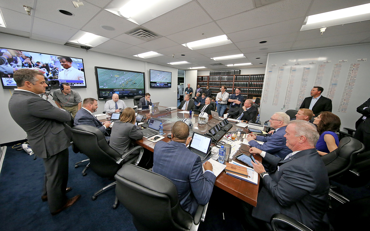 In the draft room on Thursday, the Cowboys discussed trades at the No. 4 spot and again later in the first round.
