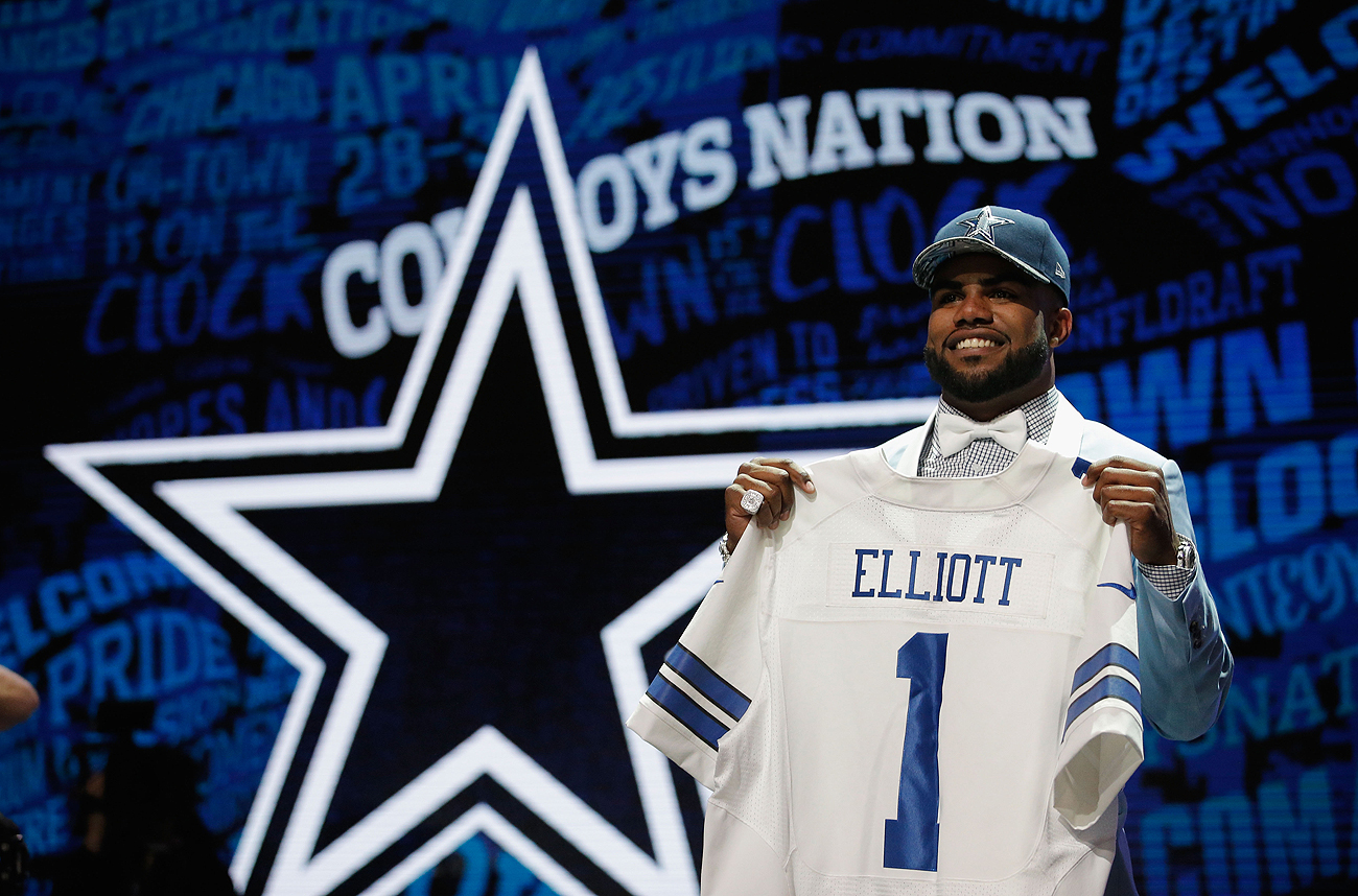 The Cowboys expect Elliott to help the team play a more ball-control style of offense.