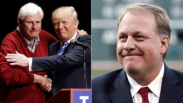 Bobby Knight and Curt Schilling