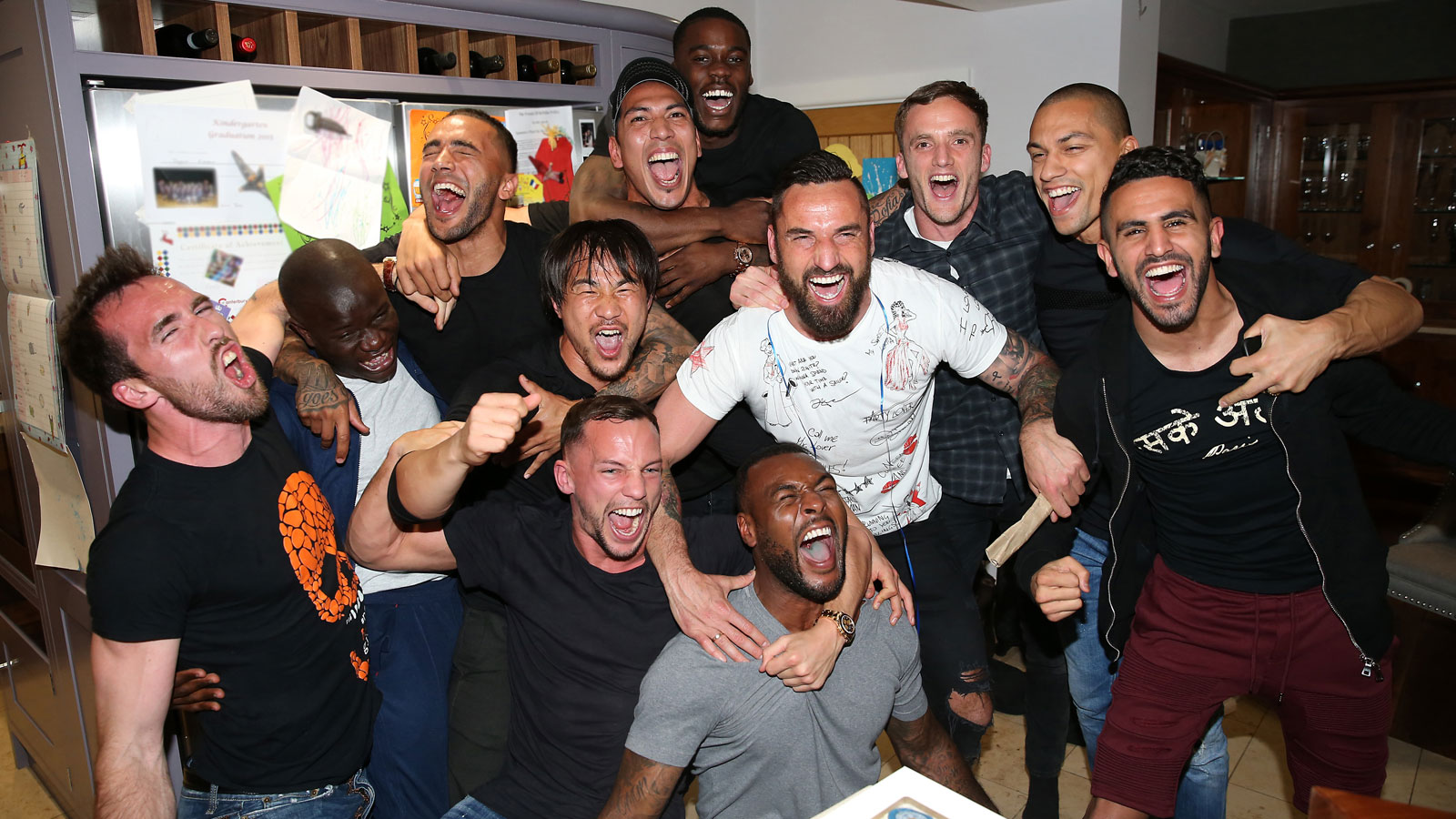 Leicester players gathered at Jamie Vardy's house to watch Chelsea take on Tottenham in the decisive match in the title race. It was the Vardy Party to top all Vardy Parties, as Leicester was crowned champion following the 2-2 draw at Stamford Bridge.