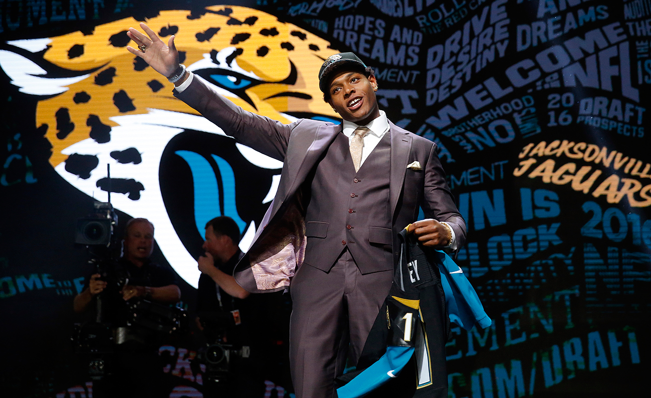 Defensive back Jalen Ramsey went fifth overall to the Jaguars, who have emphasized defense with their offseason moves.