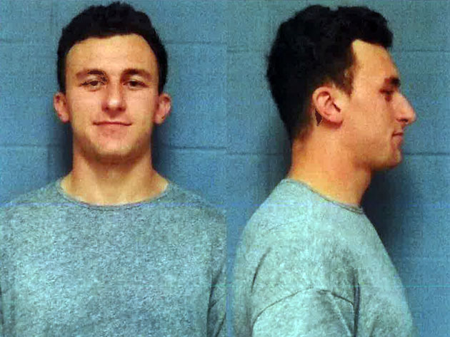johnny manziel mug shot photo