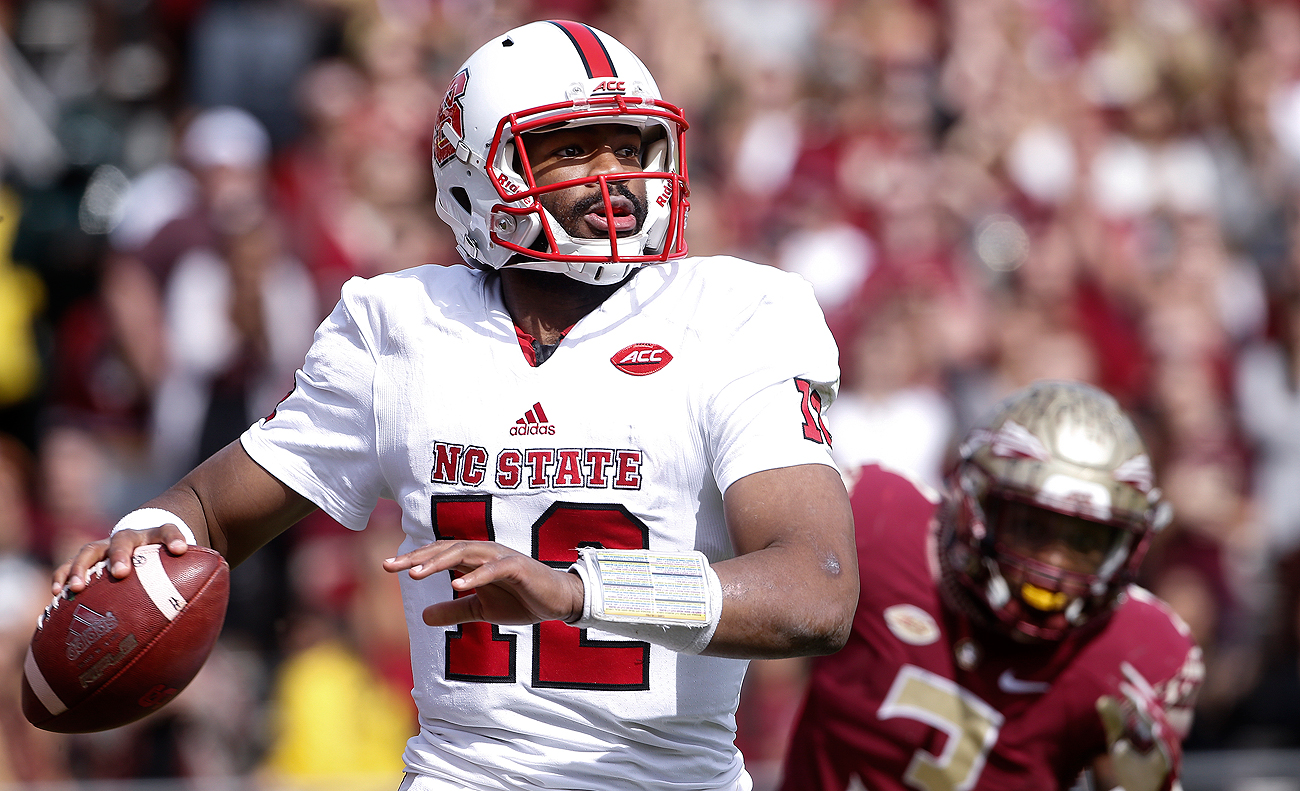New Patriot Jacoby Brissett probably won't get to wear his college number when he suits up for New England.