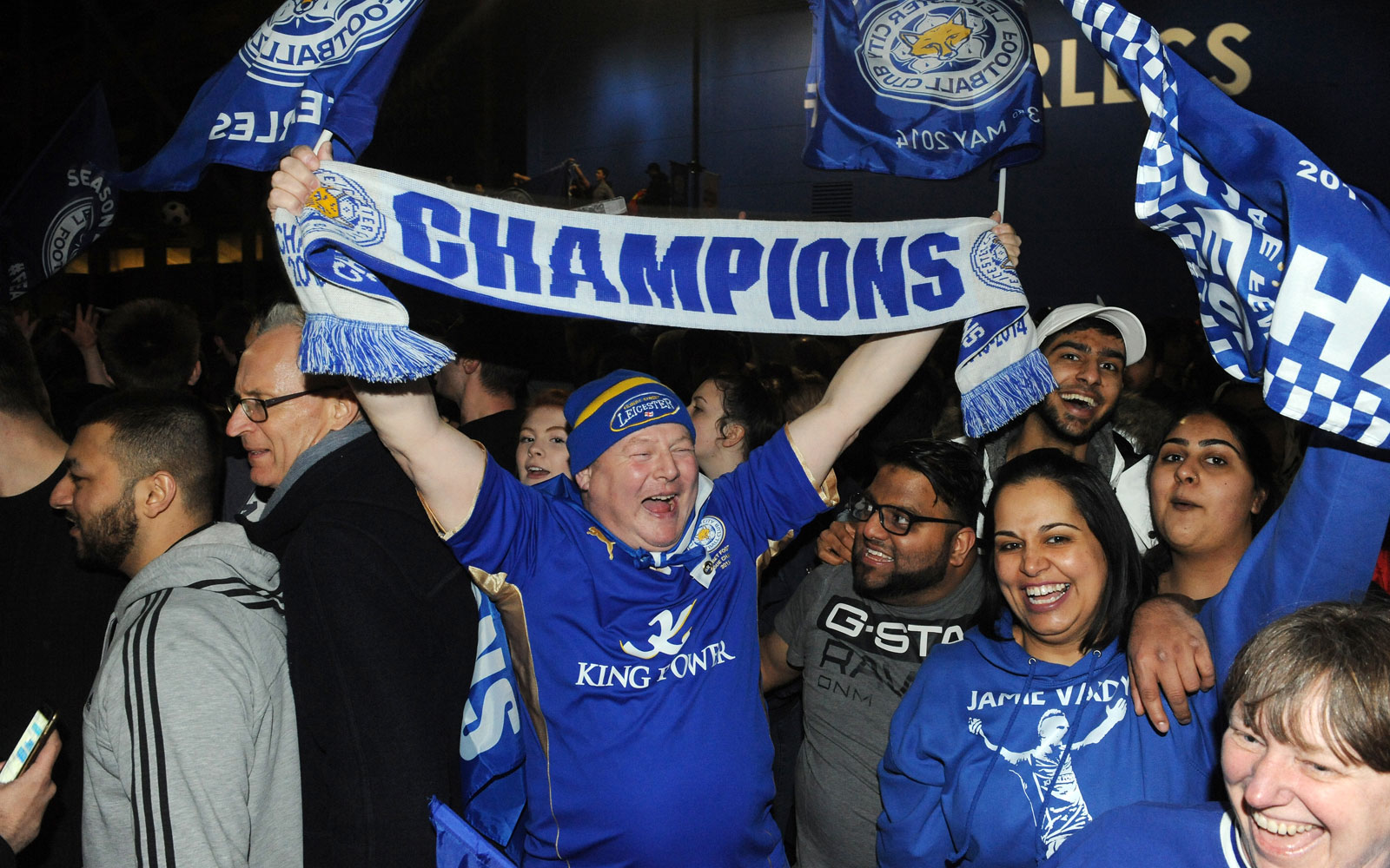 This Leicester fan's scarf says it all: Champions