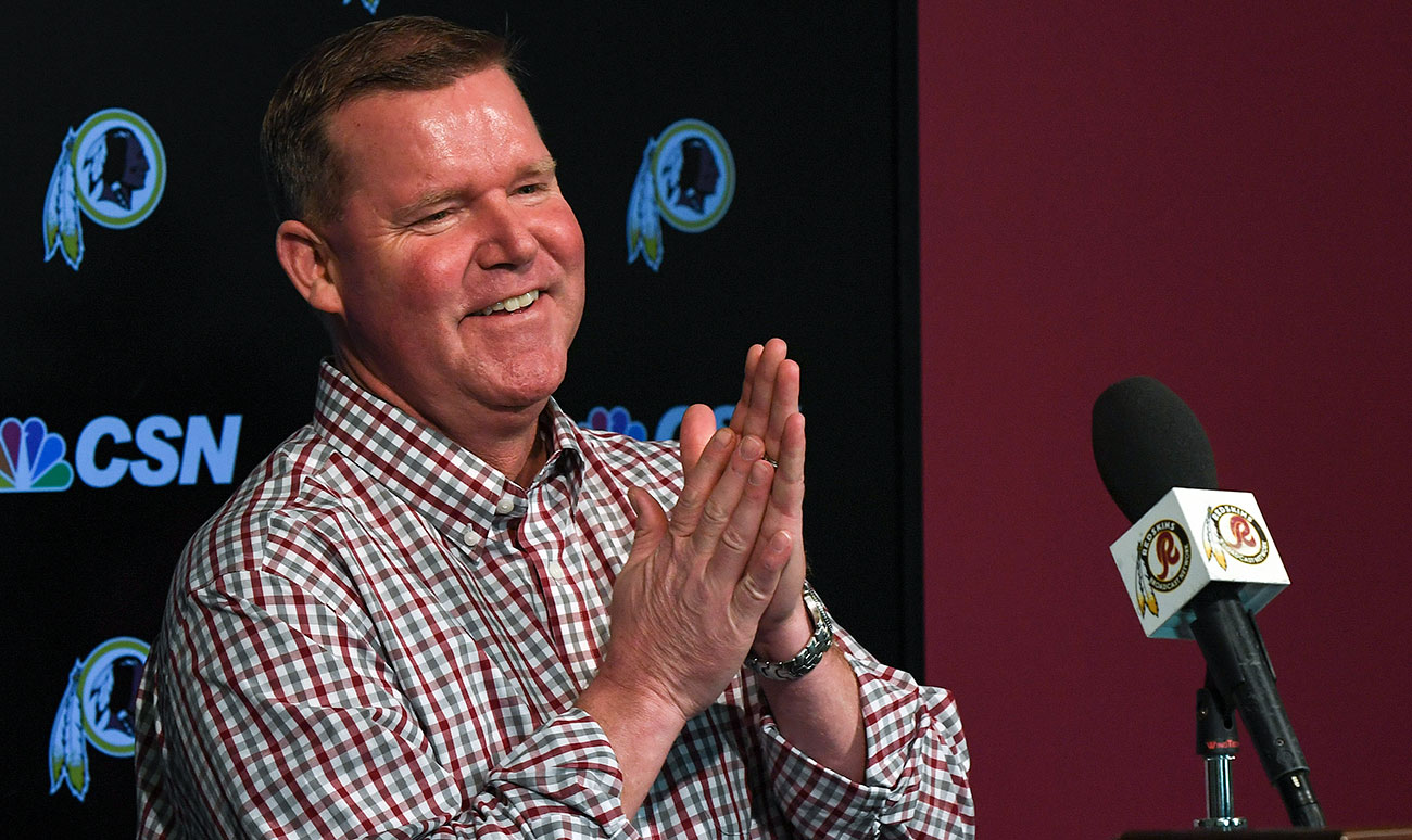 Washington Redskins GM Scot McCloughan.