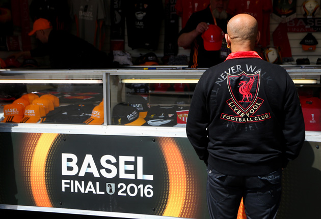 Liverpool fans have arrived in Basel to watch the Europa League final