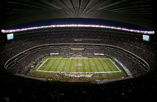 The Mexico City game would set an NFL attendance record... over Joe Browne's objection.