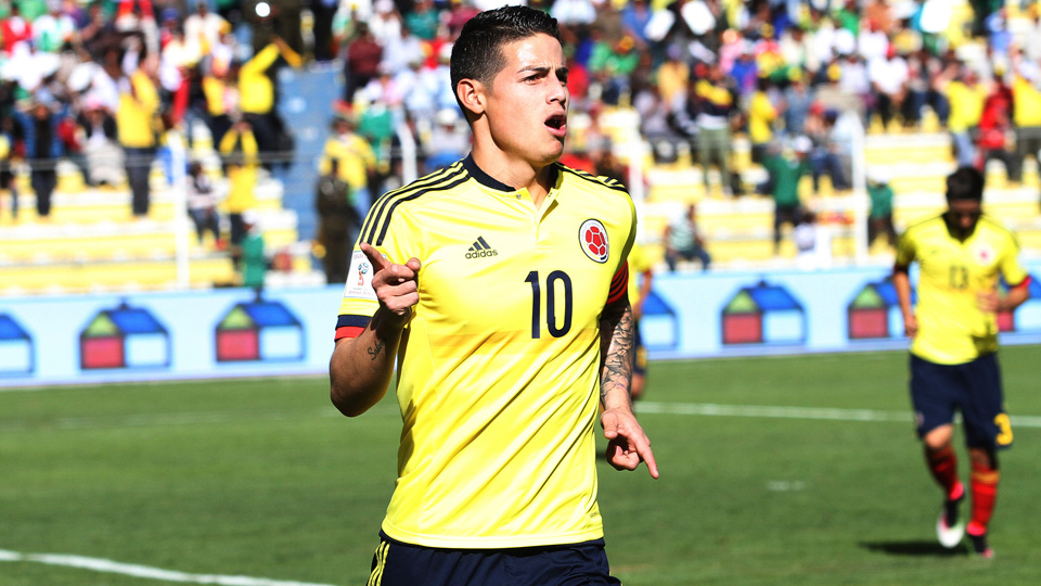 James Rodriguez leads Colombia at Copa America this summer