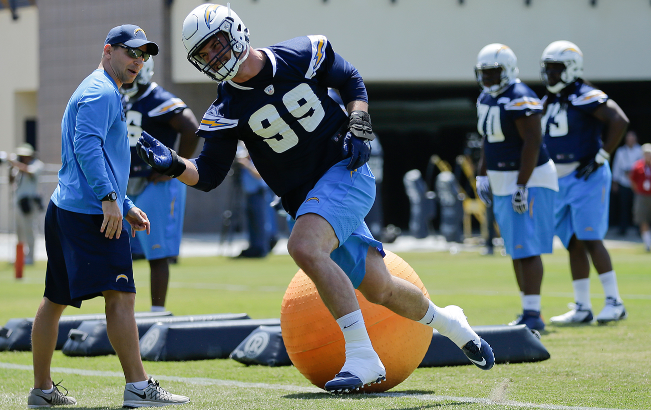 Joey Bosa, the No. 3 overall pick, hit the field with the Chargers earlier this month.
