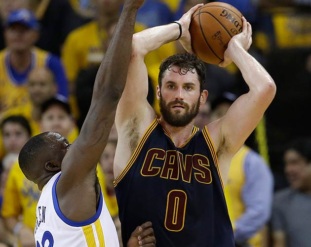 Draymond Green and Kevin Love