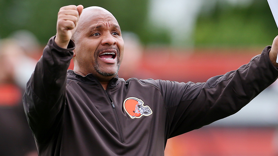 The Browns' Hue Jackson is the ideal quarterbacks coach on our ultimate NFL coaching staff.