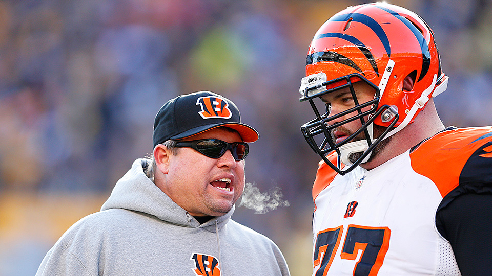 Paul Alexander's long tenure as offensive line coach for the Bengals