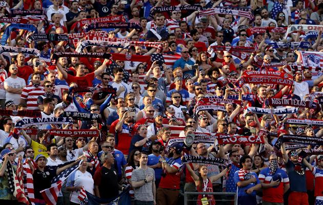 USA fans at Copa America Centenario