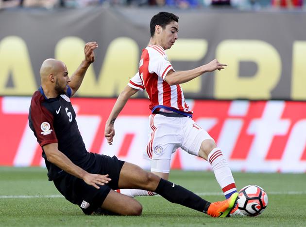 John Brooks makes a huge tackle for the USA vs. Paraguay