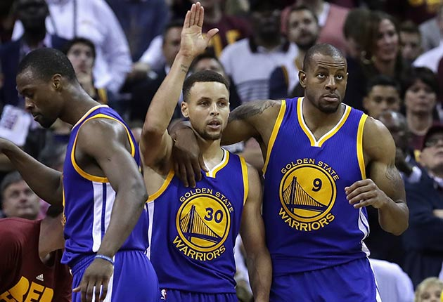 Stephen Curry and Andre Iguodala