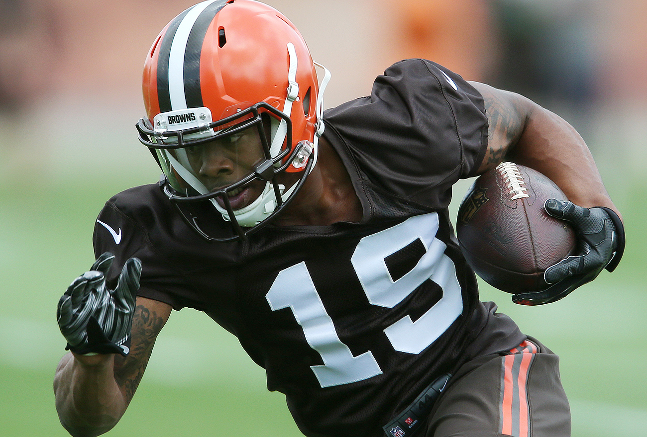 Rookie wide receiver Corey Coleman has been an early hit at Browns camp.