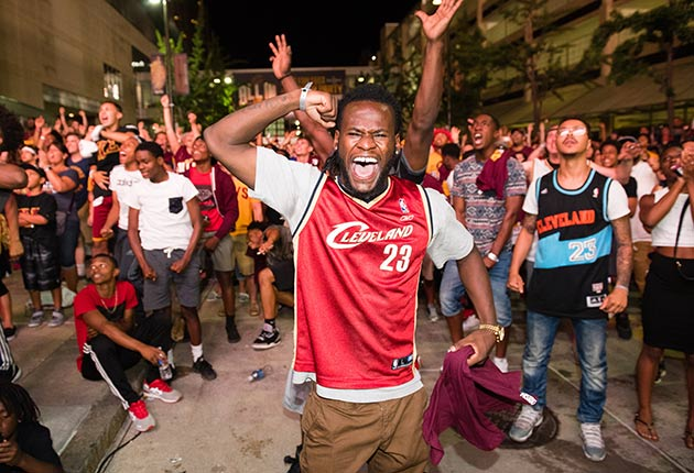 Cleveland celebrates Cavs title