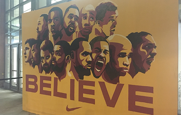 nba-finals-cavs-warriors-quicken-loans-arena-mural