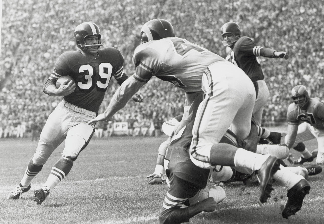 Hugh McElhenny, 49ers vs. Rams, 1955.