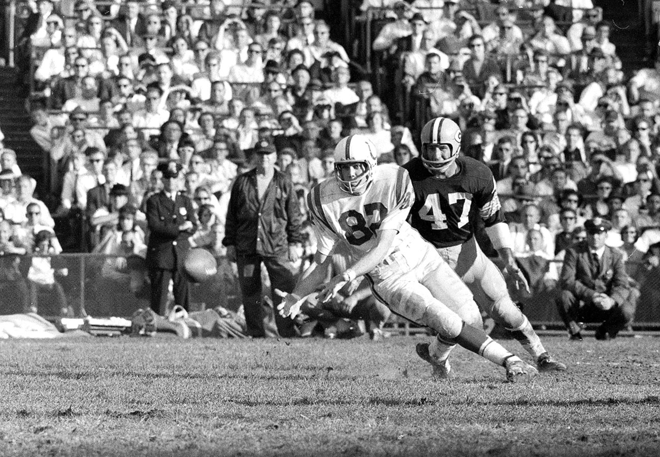 Raymond Berry, Colts vs. Packers, 1965.