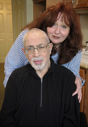 Paul Zimmerman, 83, and wife Linda, Saturday at Crane's Mill Assisted Living Center in West Caldwell, N.J. He relocated from living at his New Jersey home earlier this year.