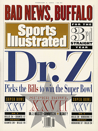 Eventually, Dr. Z's predictions were prominent enough to land an SI cover.