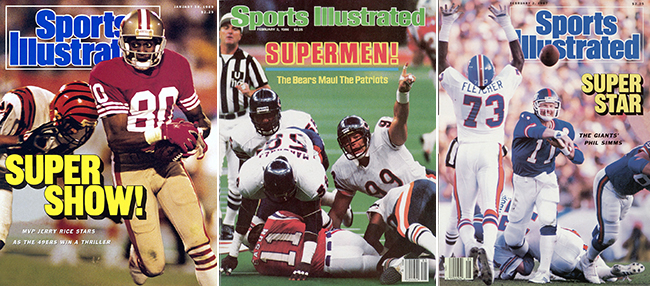 Three of Dr. Z's Super Bowl gamer covers.
