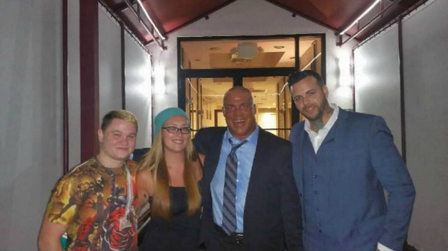 (L to R) Darby Crash, Shayna Noelle, Kurt Angle and RJ Vied