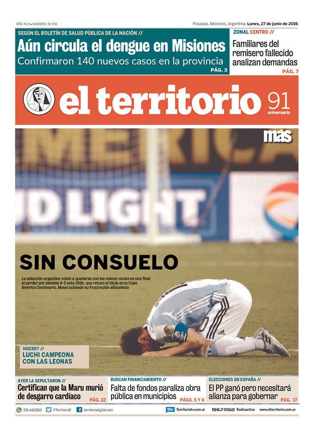 messi terrirorio front page