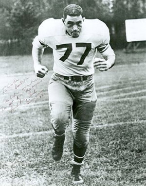 Legendary football writer Paul Zimmerman, aka Dr. Z, in his playing days.