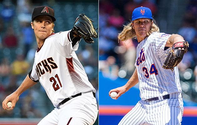 Zack Greinke, Arizona Diamondbacks and Noah Syndergaard, New York Mets