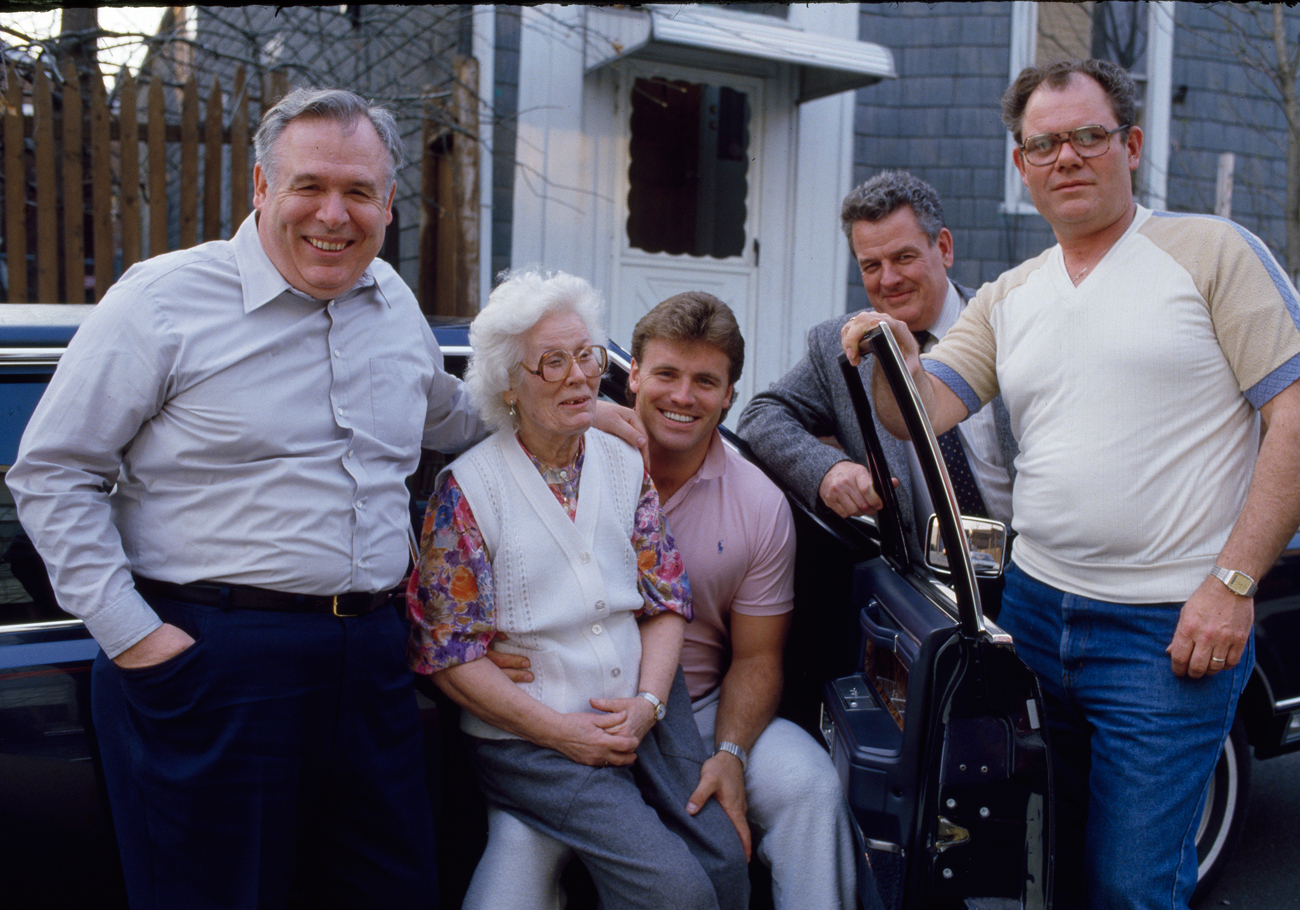 Grandma has a special place in Howie's life, along with his uncles George, left, John, center, and the tough but fair-minded Billy.